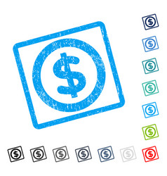 finance icon rubber watermark vector image
