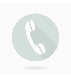 Fine Telephone Receiver Flat Icon vector image