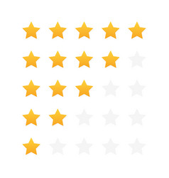 five stars customer product rating review modern vector image