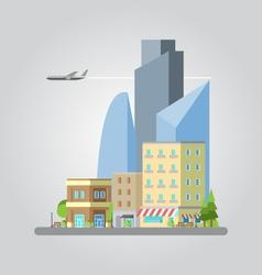 flat design colorful cityscape vector image