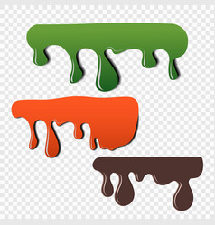 fluidity of paint color dripping vector image