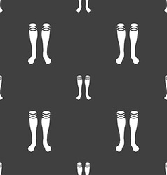 Football gaites icon sign Seamless pattern on a vector