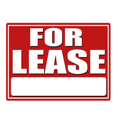 for lease red sign with copy space vector image