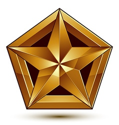 Geometric classic golden element isolated on white vector