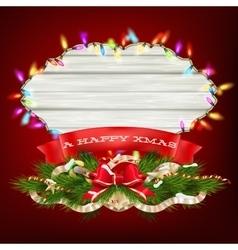 Glowing White Christmas Lights EPS 10 vector image