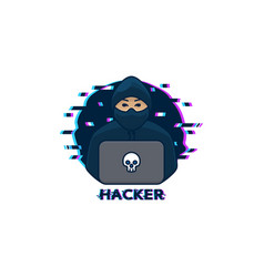 Hacker logo template vector