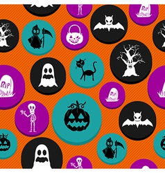 Happy Halloween elements seamless pattern vector