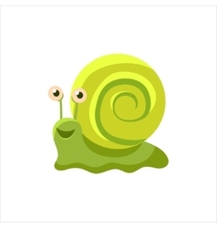 Happy Snail Icon vector