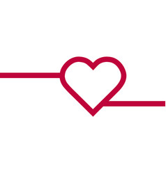 heart red icon line love symbol valentine s vector image