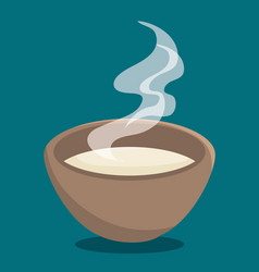 Hot soup icon vector