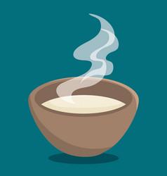 Hot soup icon vector