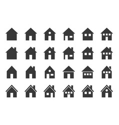 house icon glyph design pixel perfect vector image