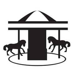 Isolated carousel silhouette vector