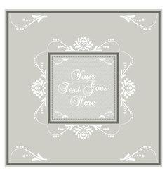 Light earth tone invitation card vector image