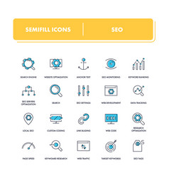 line icons set seo vector image