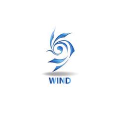 logo element wind vector image