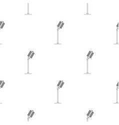 Microphone pattern seamless vector