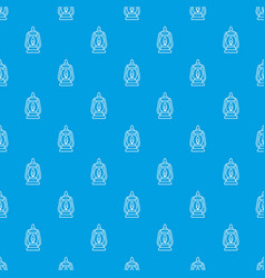 mining lamp pattern seamless blue vector image