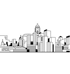 modern city buildings high skyscrapers view vector image