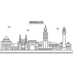 Morocco architecture line skyline vector