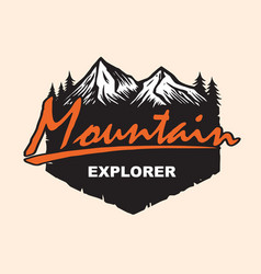 mountain explore logo design template vector image