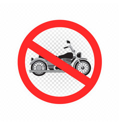 no chopper motorcycle sign icon vector image