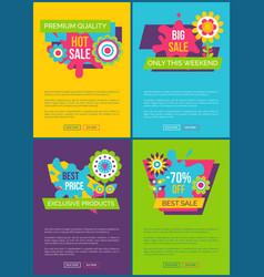 online sale web banners set vector image