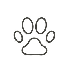 Paw print icon line dog footprint symbol vector