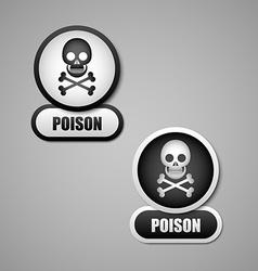 Poison icon vector