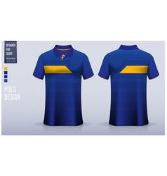 polo t-shirt mockup template design vector image