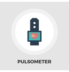 Pulsometer icon flat vector