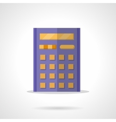 Purple calculator flat color icon vector image