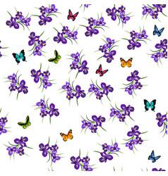 purple iris flowers vector image