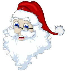 Santa Claus head isolated for you design vector