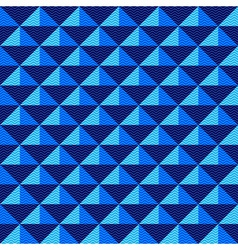 Seamless dark blue geometric pattern vector image