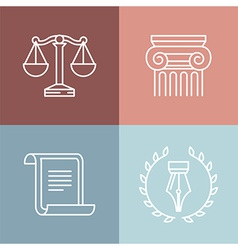 Set juridical and legal logos vector