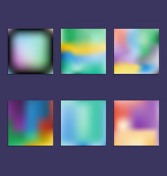 set of hologram bright colorful backgrounds vector image