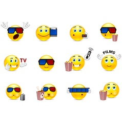 Smilies in a movie vector