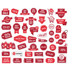 Special offer 25 percent sale banners and coupons vector