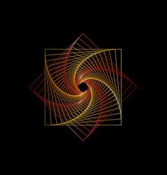 Spiral line colorful mandala sacred geometry logo vector