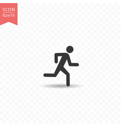 stick figure a man running silhouette icon simple vector image