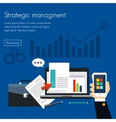Strategic management Concepts for web banners vector image
