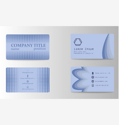 Stylish metro business card template vector