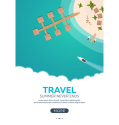 Summer travel banner sea travel summer time vector