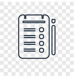tablets concept linear icon isolated on vector image