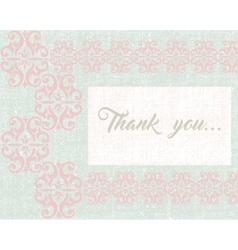 Thank you card or postcard vector