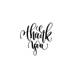 thank you hand lettering inscription vector image