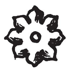 The double quatrefoil the heraldic charge borne vector