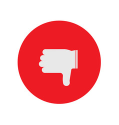 Thumbs down icon in shape vector