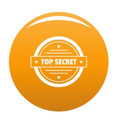 Top secret logo simple style vector